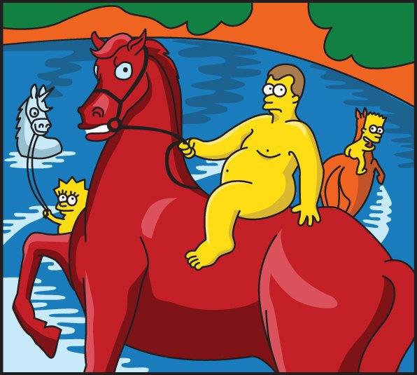 «Купание красного коня» Петрова-Водкина в версии Евгении Чур . Изображение № 1.
