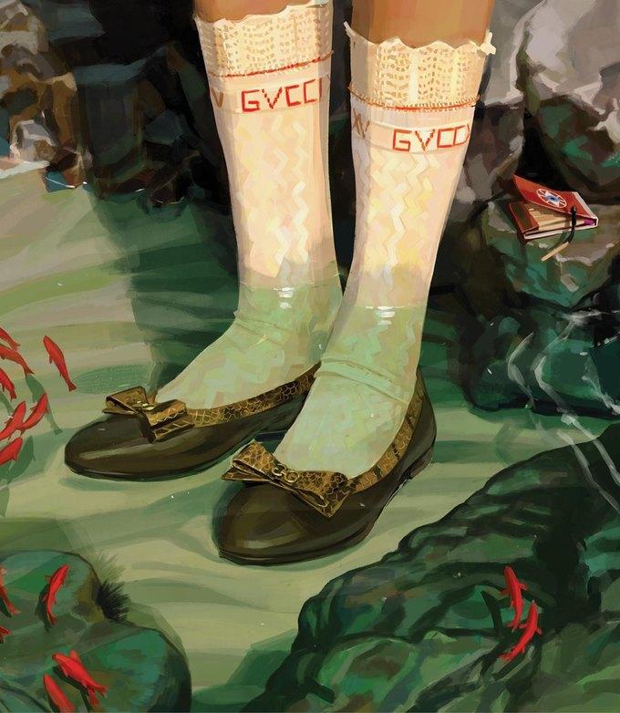 Новую кампанию Gucci нарисовал художник. Изображение № 4.