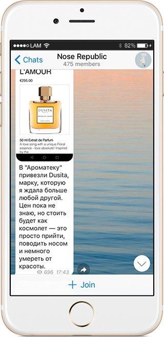 На кого подписаться: Телеграм-канал о парфюмерии Nose Republic. Изображение № 3.