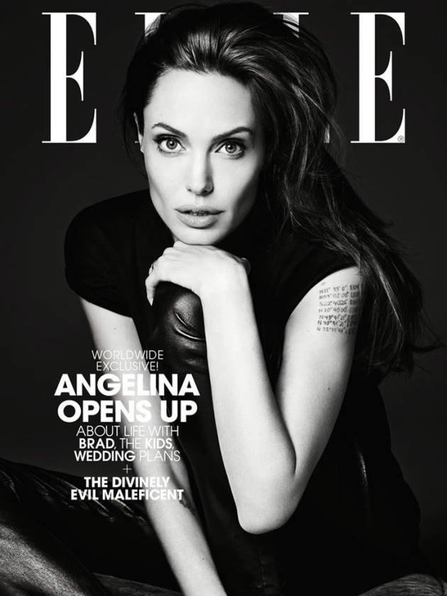 Эди Слиман снял Анджелину Джоли  для обложки ELLE. Изображение № 1.