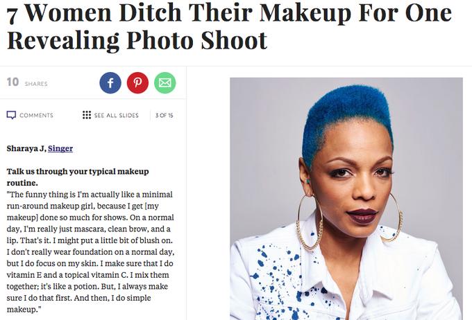 Семь известных женщин снялись с макияжем и без. Изображение № 3.