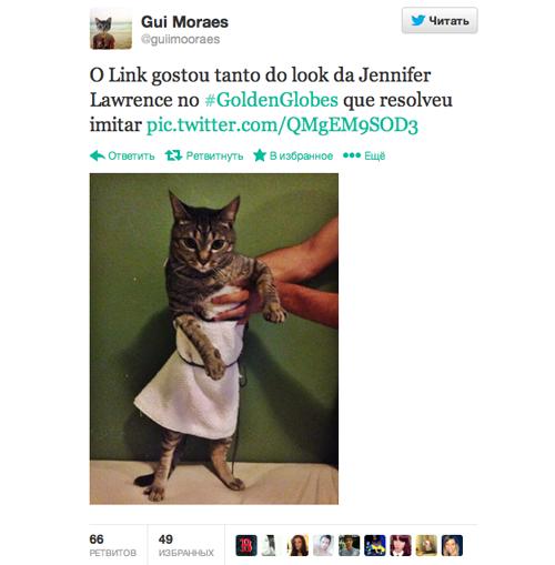 Платье Дженнифер Лоуренс с «Золотого глобуса» стало мемом. Изображение № 2.