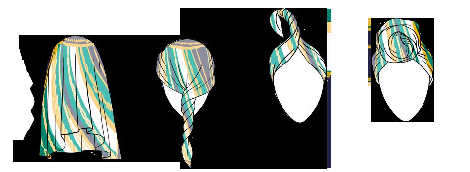 7 способов повязать платок  на голову. Изображение № 2.