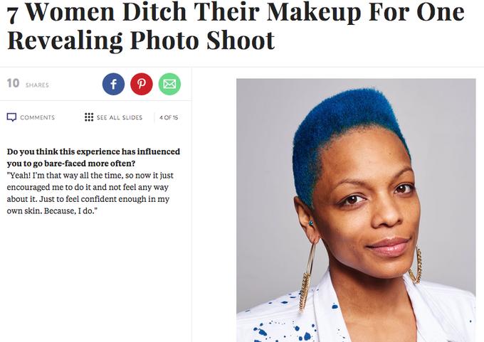 Семь известных женщин снялись с макияжем и без. Изображение № 4.