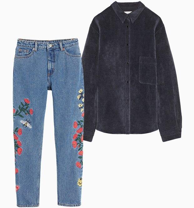 Комбо: Рубашка с фантазийными джинсами. Изображение № 1.