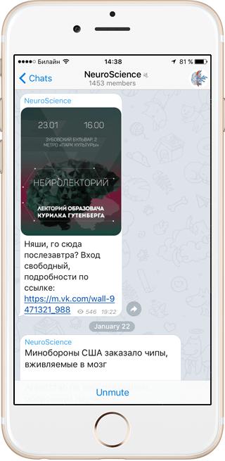 На кого подписаться: NeuroScience и другие каналы в Telegram . Изображение № 3.