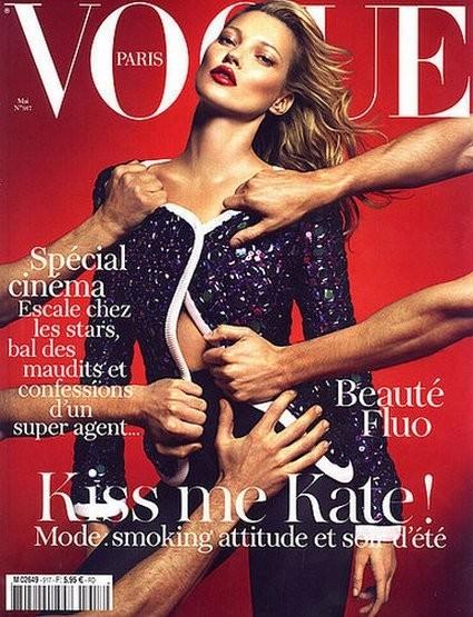 Кейт Мосс на обложке французского Vogue, май 2011. Изображение № 23.