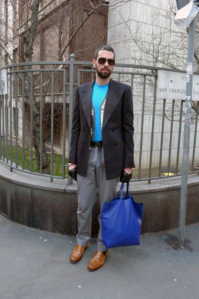 Milan Fashion Week: день четвертый – луки. Изображение № 20.
