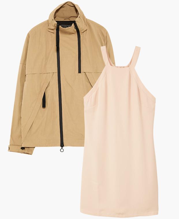 Комбо: Ветровка с летним платьем. Изображение № 1.