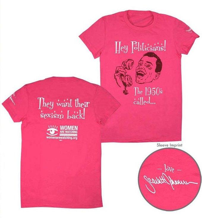 Скарлетт Йоханссон поддержала идею планирования семьи футболкой. Изображение № 2.