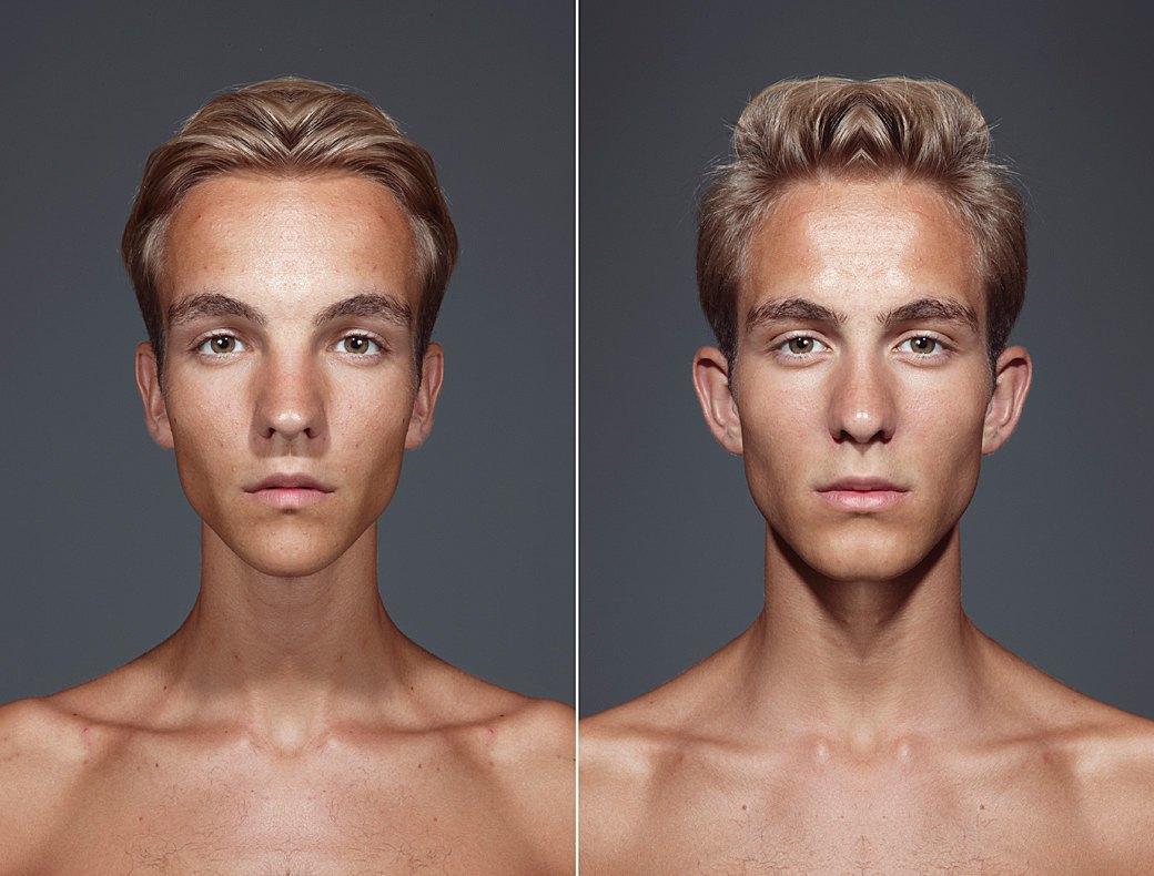 «Симметричные портреты»:  Два человека в одном. Изображение № 4.