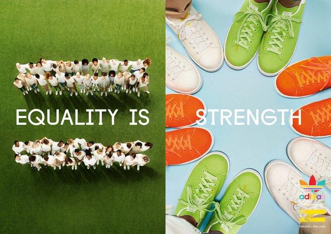 Новая кампания Фаррелла  и adidas Originals продвигает идеи равенства. Изображение № 2.