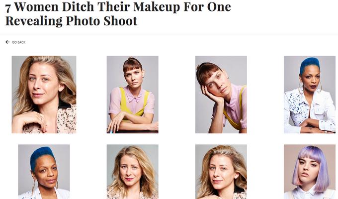 Семь известных женщин снялись с макияжем и без. Изображение № 1.