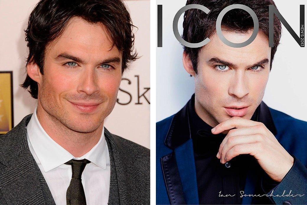Нереально красивые: Знаменитые мужчины  до и после фотошопа. Изображение № 11.