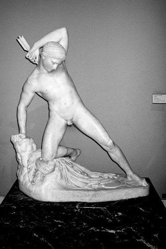 Питер Кааден адаптировал статуи к моральным принципам Facebook. Изображение № 9.