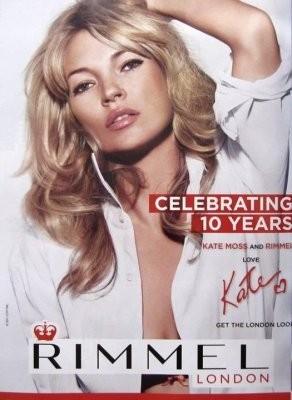 Кейт Мосс в рекламной кампании косметики Rimmel. Изображение № 42.