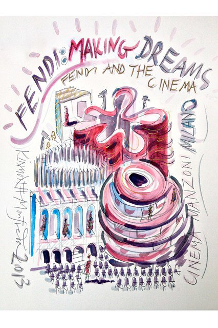 Новая выставка Fendi посвящена синтезу моды и кино. Изображение № 1.