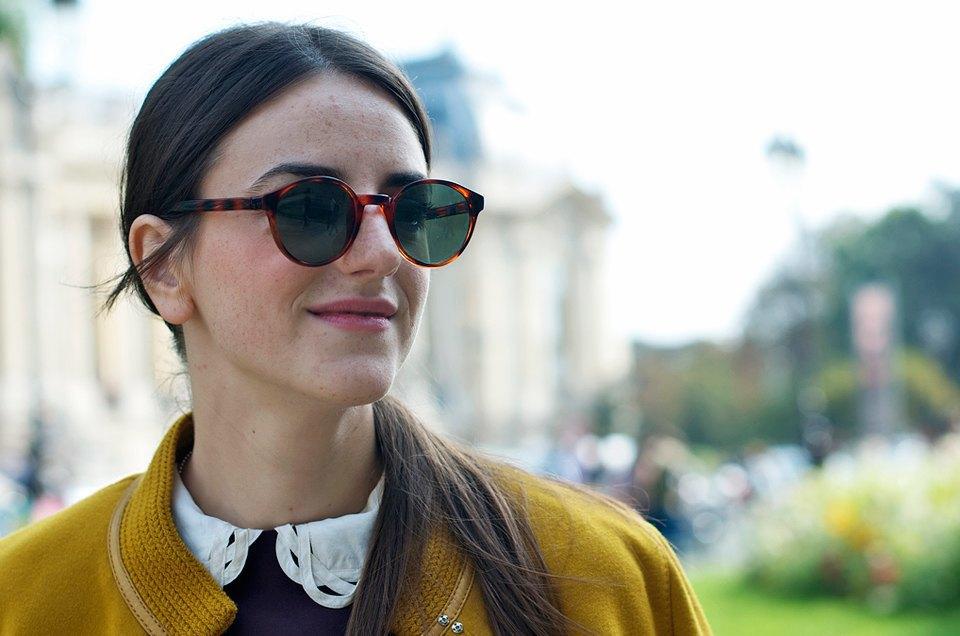 Розовый и остроумные  принты на гостях Paris Fashion Week. Изображение № 11.