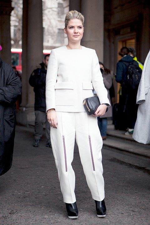 Стритстайл:  Что носят гости London Fashion Week. Изображение № 8.