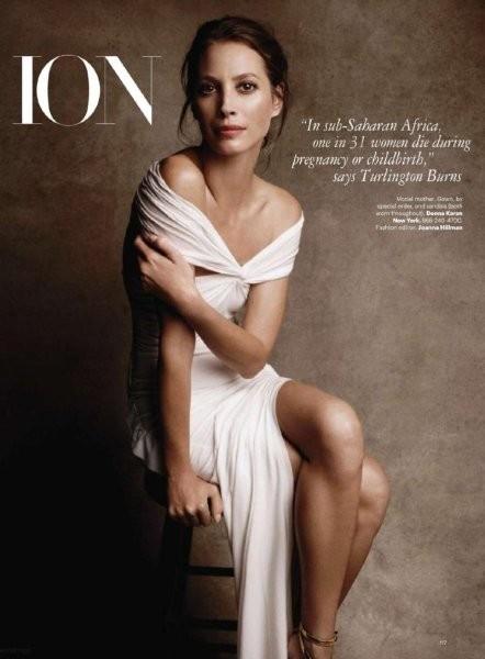 Кристи Тарлингтон в американском Harper's Bazaar, январь 2011. Изображение № 30.