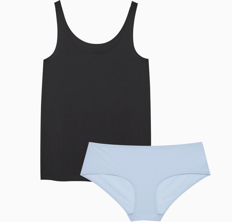 Мягкое бесшовное бельё: 10 стильных и лаконичных комплектов. Изображение № 1.