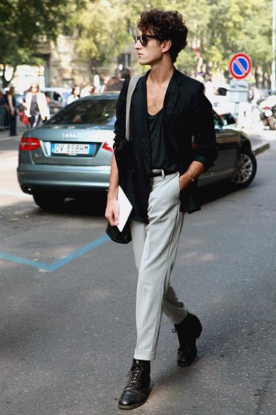Milan Fashion Week: Уличный стиль, день 4. Изображение № 6.